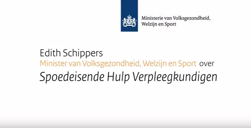 Minister Schippers spreekt door middel van een videoboodschap op het congres van de NVSHV
