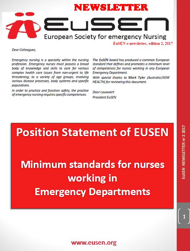 Nieuwsbrief 2 van 2017 van de EuSEN is uit