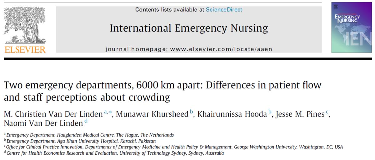 2 SEH's , 6000 km van elkaar gescheiden, verschillen en overeenkomsten in crowding .