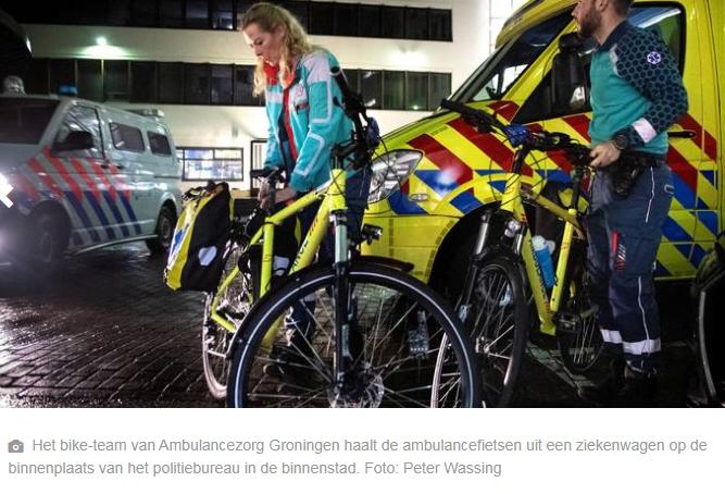 Een fietsend ambulanceteam zorgt voor meer rust op de SEH van ziekenhuizen