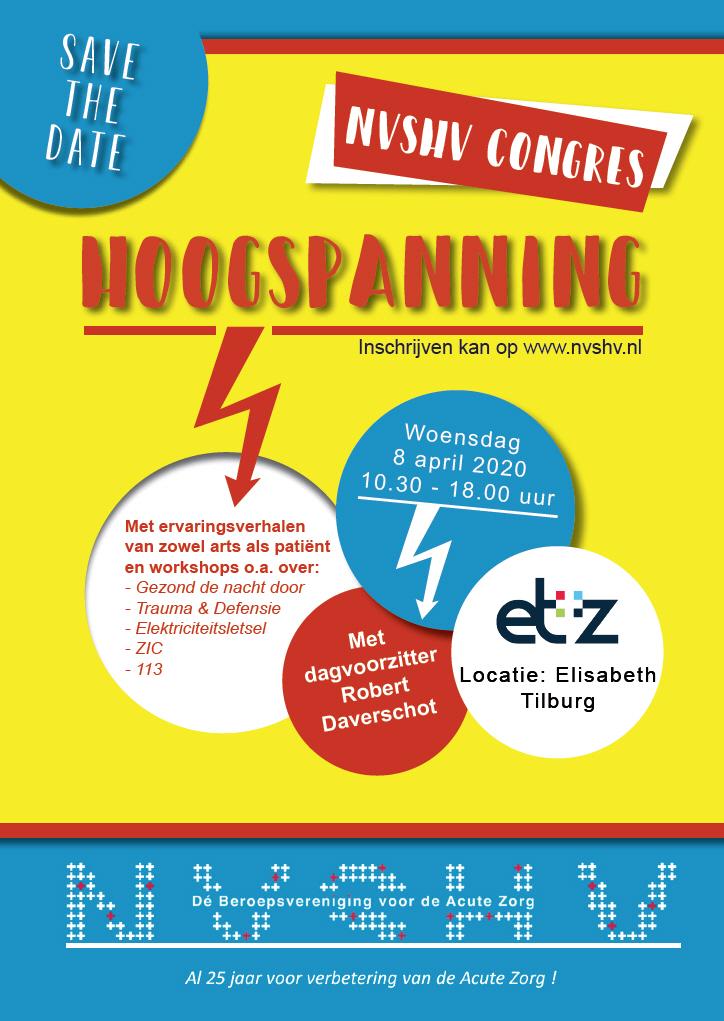 "NVSHV congres ""Hoogspanning"" 8 april 2020 ETZ Tilburg"