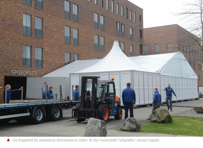 Tenten en portocabins bij ziekenhuizen vanwege drukte op de SEH door coronacrisis