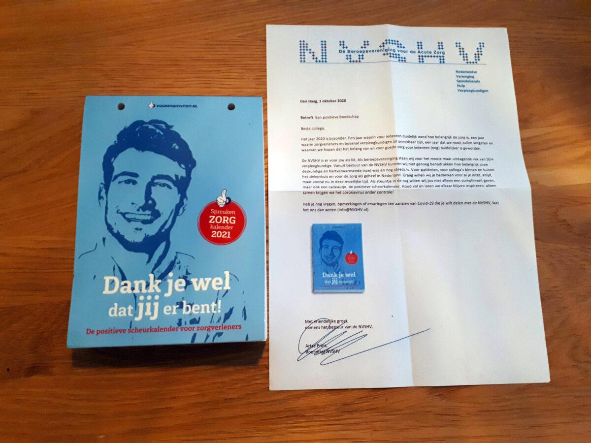 Positieve scheurkalender voor leden van de NVSHV