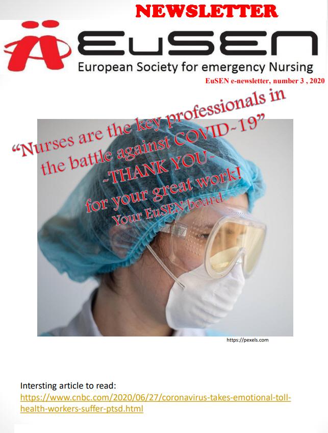 Nieuwsbrief 3-2020 van de EuSEN is uit